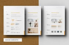 Concept Design Mood Board Templates by Egotype on @creativemarket