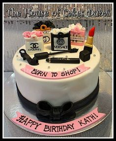 Shopping bags cake 4 Serves To make an order please press 14th Birthday Cakes, Elegant Birthday Cakes, Beautiful Birthday Cakes, Fondant Cakes, Cupcake Cakes, Chanel Cake, Luxury Cake, Online Cake Delivery, Make Up Cake
