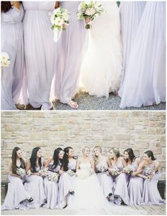 Long brides maid dresses... you know how I feel... cough! LONG!