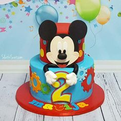 mickey mouse birthday party ideas Mickey mouse for Matija cake by Pastel Mickey Mouse Niño, Festa Mickey Baby, Bolo Mickey, Mickey 1st Birthdays, Fiesta Mickey Mouse, Theme Mickey, Mickey Mouse Clubhouse Birthday Party, Mickey Mouse 1st Birthday, Mickey Cakes