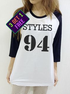 Harry Styles 94 Shirt One Direction 1D Dope Swag Hipster Unisex Baseball Shirt Men Women Funny 3/4 Raglan Long Sleeve by NaturalTeeM on Etsy https://www.etsy.com/listing/248576001/harry-styles-94-shirt-one-direction-1d