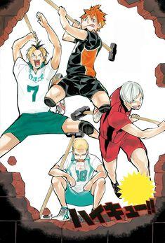 You are reading Haikyuu Chapter 132 in English. Read Chapter 132 of Haikyuu manga online. Manga Anime, Manga Haikyuu, Haikyuu Funny, Daisuga, Kuroken, Hinata, Naruto, Laporte, Haruichi Furudate