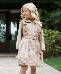 Look at this Trish Scully Child Tan Olivia Coat - Girls on #zulily today!