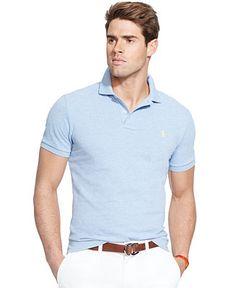 Polo Ralph Lauren Men\u0027s Classic-Fit Mesh Polo Shirt - Men - Macy\u0027s