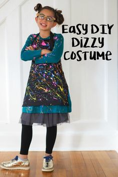 DIY Descendants Costumes - The Chirping Moms, Dizzy costume, Smee Twins costume, Squeaky, Squirmy Easy Last Minute Costumes, Easy Diy Costumes, Homemade Halloween Costumes, Descendants Characters, Descendants Costumes, Twin Costumes, Black Apron, Nice Dresses, Dresses With Sleeves