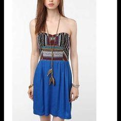 Staring at stars strapless Navajo print dress Size zero EUC Urban Outfitters Dresses Mini