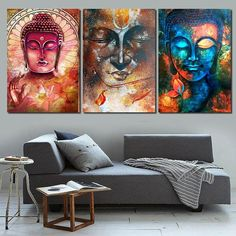 Buddha 3 Piece Zen Meditation Canvas Wall Decor Wall Art Set sold by Belladonna Home Decor. Shop more products from Belladonna Home Decor on Storenvy, the home of independent small businesses all over the world. Buddha Canvas, Buddha Wall Art, Buddha Painting, Zen Painting, Canvas Wall Decor, Canvas Artwork, Wall Art Decor, Buddha Kunst, 3 Piece Art