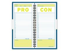 Pro/Con Journal... great way to help make a tough decision (especially relationship wise!)