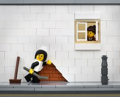 Banksy in LEGO by Je