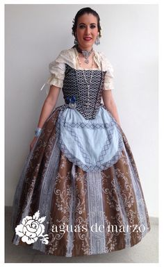 Folk Fashion, Baroque Fashion, Traditional Fashion, Traditional Dresses, Medieval Princess, Fairytale Dress, Period Outfit, Everyday Dresses, Playing Dress Up