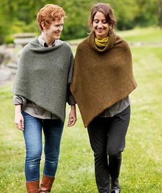 Easy Folded Poncho Pattern – Churchmouse Yarns & Teas