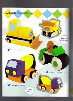 Moldes do Tessituras: revista japonesa de feltro