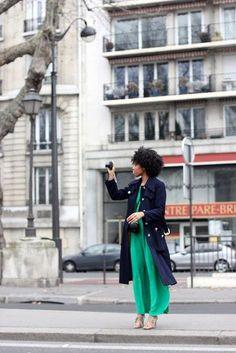 Thaina // 4B Natural Hair Style Icon | Black Girl with Long Hair
