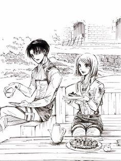 Rivaille and Petra (Fanart) Eren And Mikasa, Armin, Manga Girl, Manga Anime, Levi And Petra, Levi Squad, Captain Levi, Attack On Titan Fanart, Free Anime