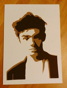 Quick papercut of Nathan Sykes by Mrs Scuffer's Handcut.  Custom portraits available from her Etsy shop