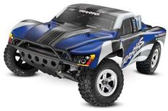 Traxxas 1/10 Slash 2WD TQ/Battery/Charger Blue/Black