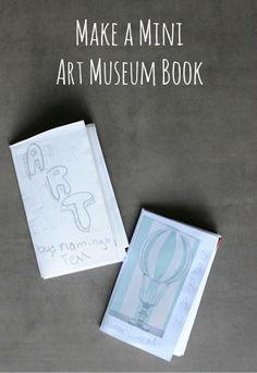 How to make a mini art museum book • Artchoo.com