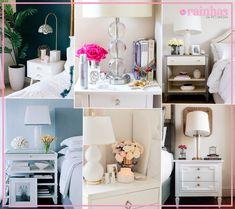 Inspiração Pinterest: Cantinho da Cama   Rainhas da Pechincha: Resenhas e dicas do mundo da beleza acessível. Vanity, Mirror, Furniture, Home Decor, Book Headboard, Queens, Beauty, Tips, World