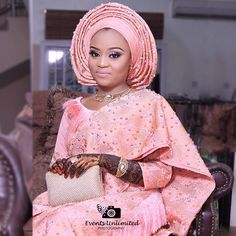"14.9k Likes, 43 Comments - Africa's Top Wedding Website (@bellanaijaweddings) on Instagram: ""Peachy Perfect. The bride's henna is so intricate Bride @haleema_sadear Makeup @oshewabeauty…"""