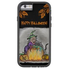 Witch and cat, Happy Halloween! iPhone 6 Case http://www.zazzle.com/witch_and_cat_happy_halloween_iphone_6_case-256020904824687433?rf=238675983783752015