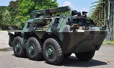 Made in Indonesia: Anoa 6 X 6 Recovery: Winch 6 ton, Pioneer Set, Pemadam Kebakaran, Penyejuk Udara, Toolkit Pengemudi, Lampu-Peta, Jaring Kamuflase, Hydraulic Rear Rampdoor System, Smoke Grenade Dischargers cal. 66 mm; (3 right, 3 left)