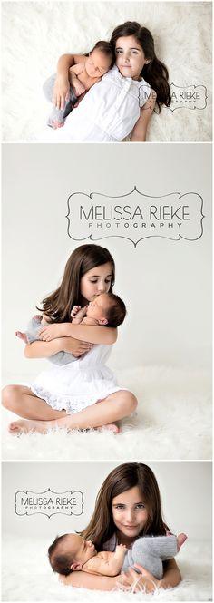 Newborn Baby Boy Photos | Baby Boy and Sister | Sibling Photos | Brother Sister Photos | Kansas City Newborn Photographer | Melissa Rieke Photography www.melissariekephotography.com