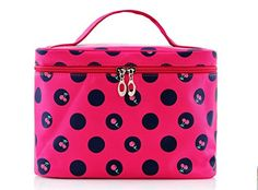 EN'DA Clasical Cherry Pattern Big Size Traveling Makeup Bag,single Layer Professional Cosmetic Bag (Rose) ** Discover this special product, click the image : Makeup bag