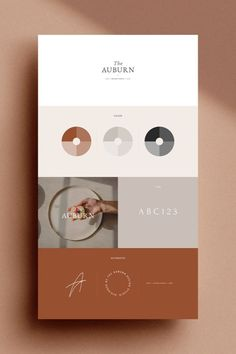 The Auburn Brand Sheets are a series of 24 individually designed branding template sheets designed in both Adobe Photoshop and Adobe Indesign Web Design, Design Shop, Layout Design, Logo Design, Brochure Design, Vector Design, Template Web, Branding Template, Branding Pdf