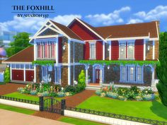The Foxhill is a family home built on a 40 x 30 lot in Newcrest on the Avarice Acres Lot.  Found in TSR Category 'Sims 4 Residential Lots'
