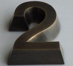 Trapezoidal Brass Reverse Channel Letters