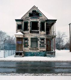 Abandoned house - Detroit..want to remodle and old house one day..