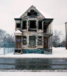 Abandoned house - Detroit ....so sad....