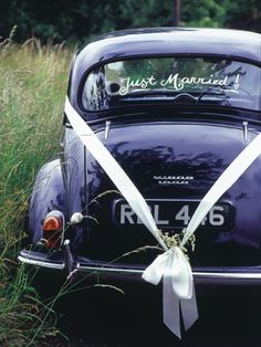 Fun Just Married Wedding Car Ideas Looking for some cute just married wedding car ideas? Here's 18 fun ways to decorate your car.Looking for some cute just married wedding car ideas? Here's 18 fun ways to decorate your car. Wedding Car Ribbon, Wedding Bunting, Wedding Cars, Wedding Blog, Dream Wedding, Wedding Ideas, Wedding Night, Wedding Images, Wedding Vendors