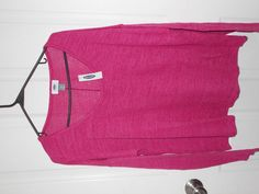 Old Navy Pink Jersey Knit Raspberry Pink Sweater NEW SZ L Large  #OldNavy #KnitTop