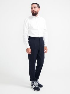 SPREAD COLLAR SHIRT WHITE | GENTRY NYC