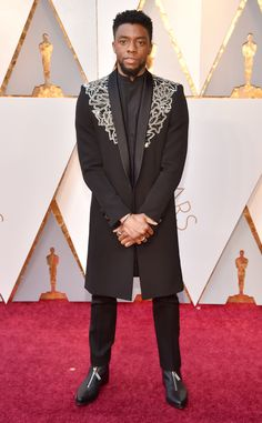 Chawick Boseman 2018 Academy Awards in Givenchy