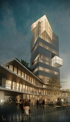 Albania Tirana Proposal project for a tower of glass - architecture urban