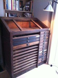 Vintage Industrial Printer's Cabinet | eBay ($200-500) - Svpply