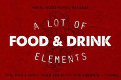 150+ Food And Drink. Best food illustrations for businesses like food menu, blogging, graphic design, poster. More #food #illustrations for your #brand you can download here ➝ https://creativemarket.com/graphics/illustrations?u=BarcelonaDesignShop