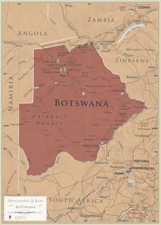 Botswana. Maps are for explorers, for planners, for dreamers and for inspiration. Repin to let us know if this map represents where in world you have visited before or where you dream to go next.