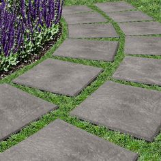 """12"""" x 12"""" Stomp Stones™, Set of 4. Recycled Rubber Pavers:"""