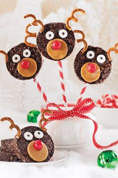 Rice Krispies, Christmas Desserts, Christmas Holidays, Caramel Mou, Food Humor, Funny Food, Canapes, Gingerbread Cookies, Kids Meals