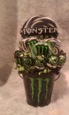 Monster Energy Lollipop Bouquet $20.00.. my babe would love