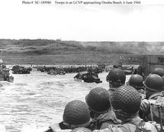 "June 1944 - Omaha Beach, Normandy - Start of D - Day - WWII - "" Operation Overlord"" The allied invasion of Nazi occupied Europe. D- Day began on the beaches of Normandy & France. World History, World War Ii, Omaha Beach, D Day Normandy, Normandy France, Normandy Beach, Normandy Invasion, D Day Landings, Landing Craft"