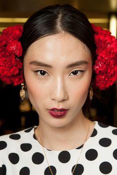 Beauty at Dolce & Gabbana S/S 2015, Milan Fashion Week