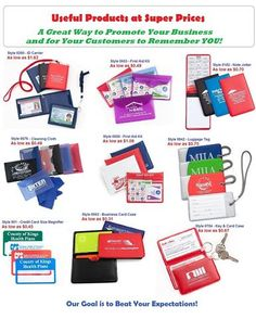 Useful Products - Great Value - Excellent Customer Service. CHECK US OUT at www.UnforgettablePromotions.com!