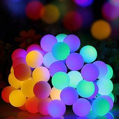 Solar Powered LED Globe String Lights (Warm-White and Multi-Color Available)