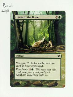 Gnaw to the Bone - Full Art - MTG Alter - Revelen's Light Altered Art Magic Card