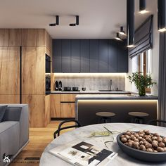 _ 🏠 I Really Enjoy This Modern And Sleek Space! 💬 Do You Appreciate The Colour Scheme? 📣 Design By Loft Kitchen, Kitchen Room Design, Best Kitchen Designs, Kitchen Cabinet Design, Modern Kitchen Design, Home Decor Kitchen, Modern Interior Design, Home Kitchens, Modern Kitchen Interiors