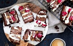 Frambozen brownie bites - Chickslovefood